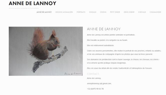 Anne de Lannoy, artiste-peintre animalier et portraitiste